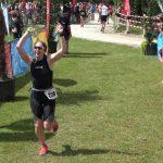 Kerstin Merk bei ihrem Triathlon-Debüt.