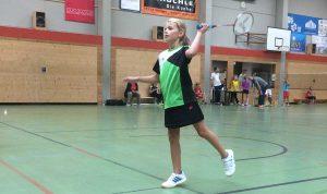 Nora Frick bei ihrem ersten Turniereinsatz.