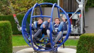 Jakob Dorn und Lukas Nold bewiesen Mut im Skyshot.