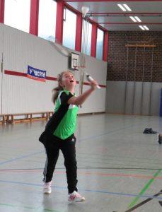 Alina Nold mit viel Ballgefühl.