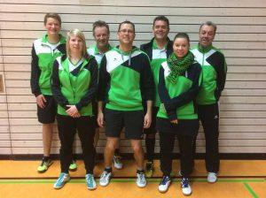 Für die SG Bad Waldsee/Reute spielten (v.l.): Raphael Kühndel, Sarah Schmid, Josef Prinz, Ralf Strobel, Christof Rauhut, Maren Zitzmann und Hans Schüle