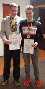 Sieger im Herren-Doppel der Klasse C: Sebastian Dachs (links) und Jon Roy Michel.